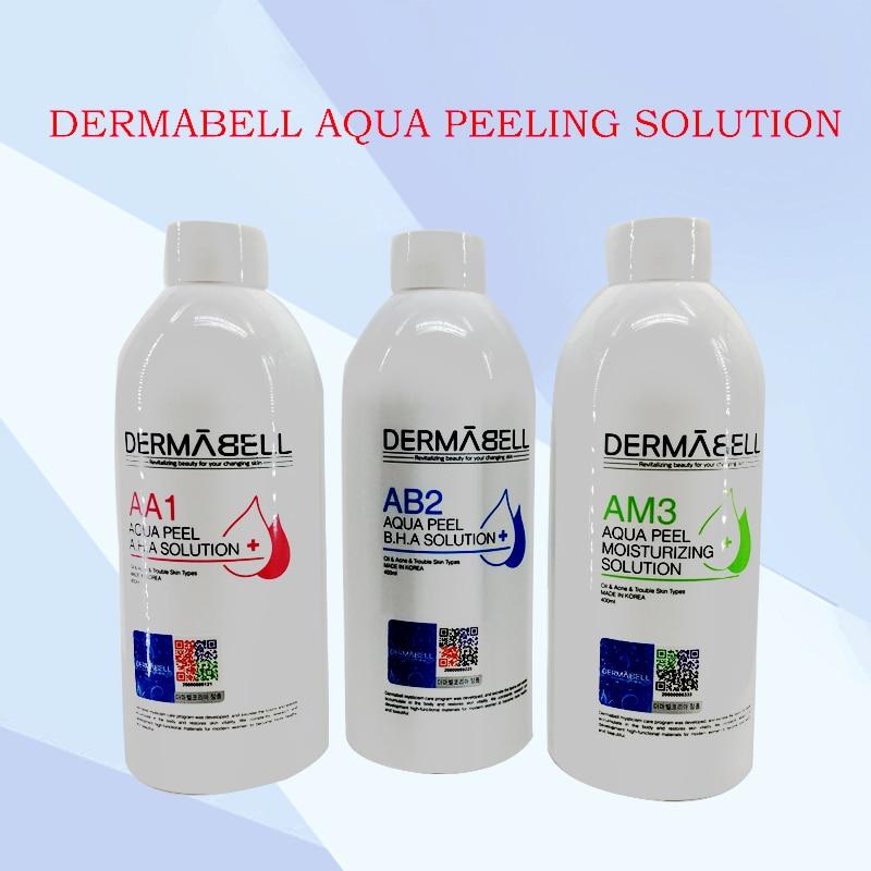 DERMABELL Aqua Peeling Solution 400ml Per Bottle Aqua Facial Serum Hydra Facial Serum For Normal Skin CE