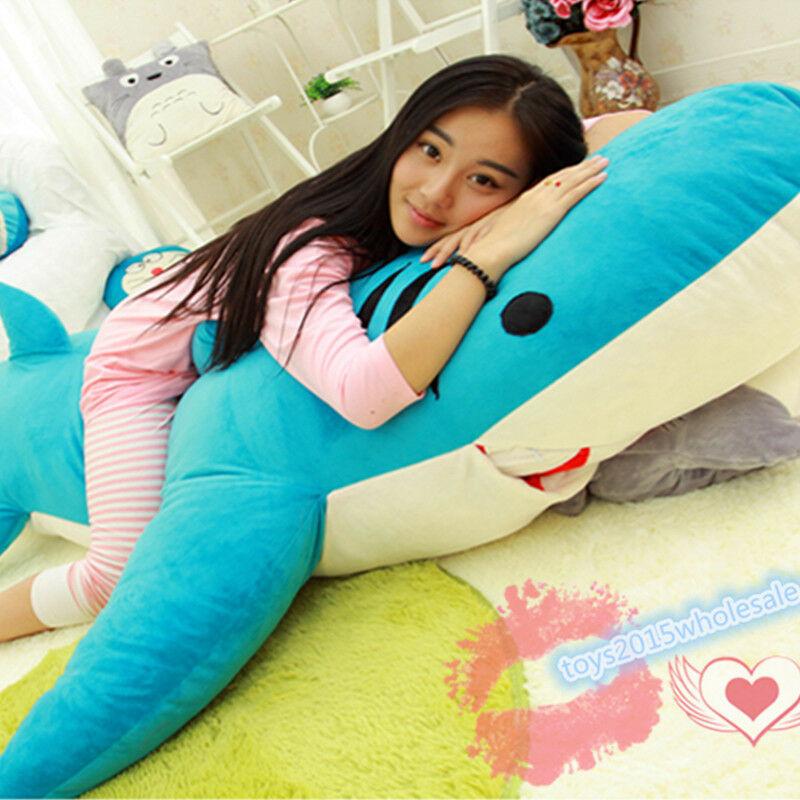 Giant Huge Big Shark Sleeping Bag Beanbag Sofa Soft Toys Bed Plush Stuffed Gift