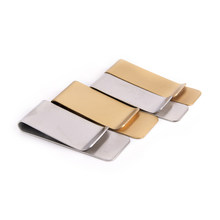1PCS Stainless Steel Money Clip Wallet Purse for Pocket Metal Money Holder 2Sizes Money Clip Cash Clamp Holder Portable Brass(China)