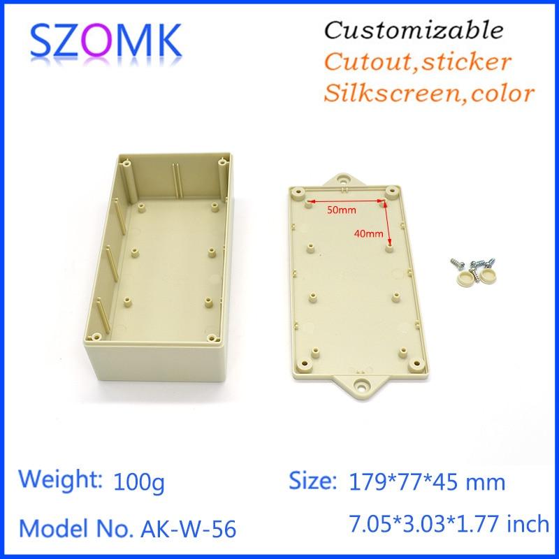 4pcs plastic Electric DIY project box 179 77 45mm junction box portable instrument Enclosure for PCB