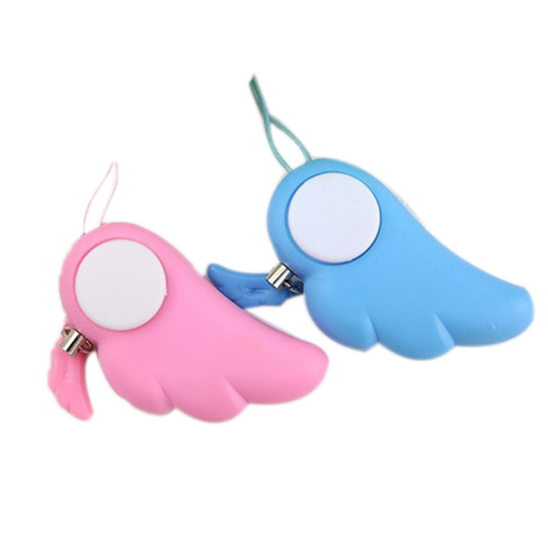 Self Defense Supplies 90DB Personal Protection Girl Women Anti-Attack Panic Safety Security Rape Alarm Mini Loud Keychain Alarm 5 pcs pink sos personal angel wings alarm anti attack protection safety personal security alarm system keychain