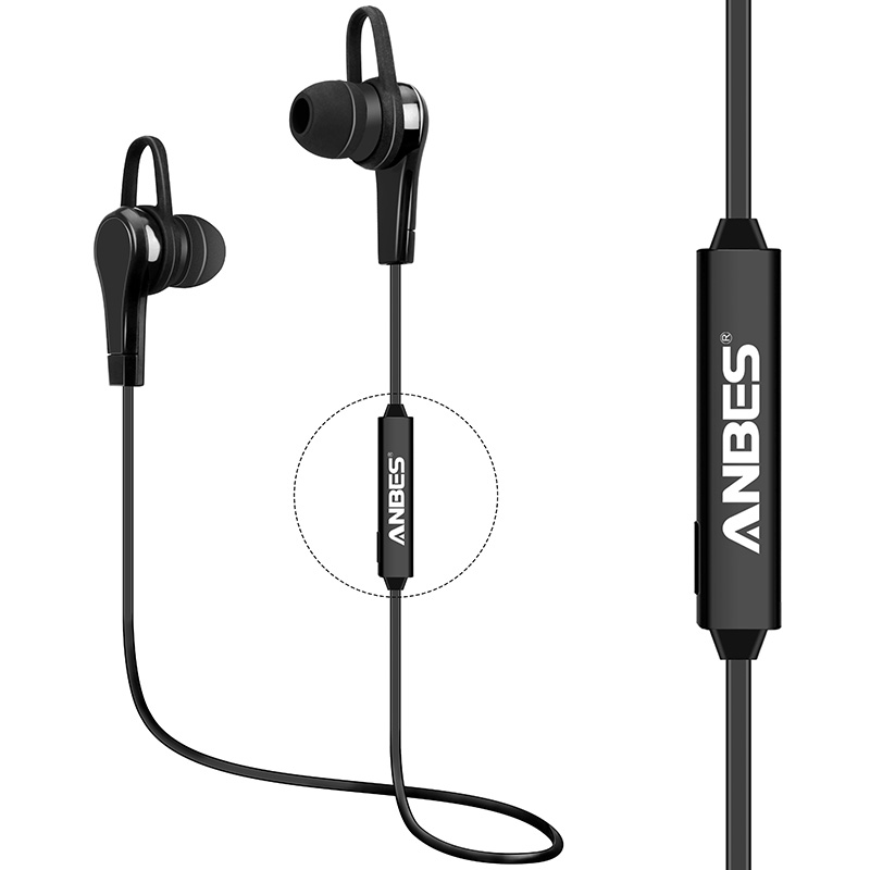 ANBES Bluetooth Headset 4.1 Wireless Bluetooth Headphones Sport Earphone Handfree with Mic LOGO Sports Earphone for IOS Android finefun new bee bluetooth headphones bluetooth headset wireless headphones earphone for ios android phone smartphone table pc