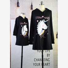 Mother and Daughter Girl Matching Unicorn Sweater Dress