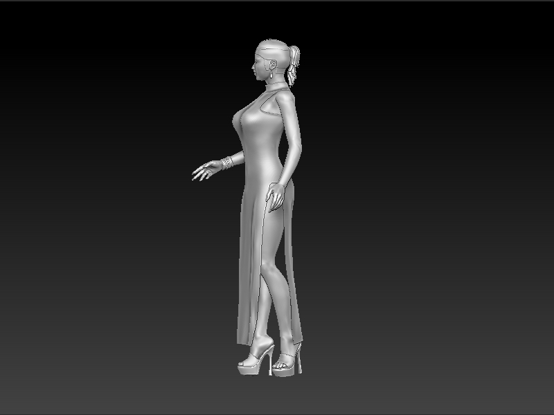 Full 3d  model   for cnc in STL file format n_lady_8 martyrs faith hope and love and their mother sophia 3d model relief figure stl format religion for cnc in stl file format