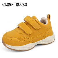 CLOWN DUCKS Kids Shoes for Girl Boy sneakers PU Leather Children Shoes Running Sport Baby Sneakers Gold Gray Girls Boys Shoe