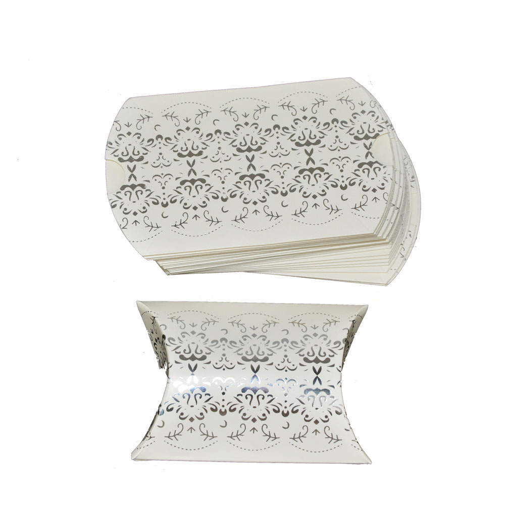 100pcs Bling Silver Pillow Candy Box Wedding Favors Gift Box for ...