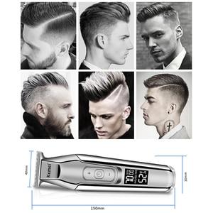 Image 5 - Kemei 5027 חשמלי גוזם גברים שיער זקן גוזז גילוח נטענת LCD תצוגת Kemei מקצועי בארבר שיער קאטר מכונת