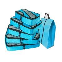 Weekend Bag Men Versatile Luggage Bags Nylon Luggage Bag Waterproof Packing Cubes Blue Travel Bag