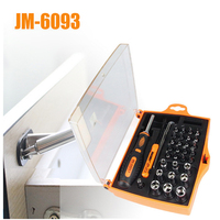 Home repair Hardware Tool Screwdriver Set JM 6093 34 in 1 combination of split appliances Furnishings household screw tools