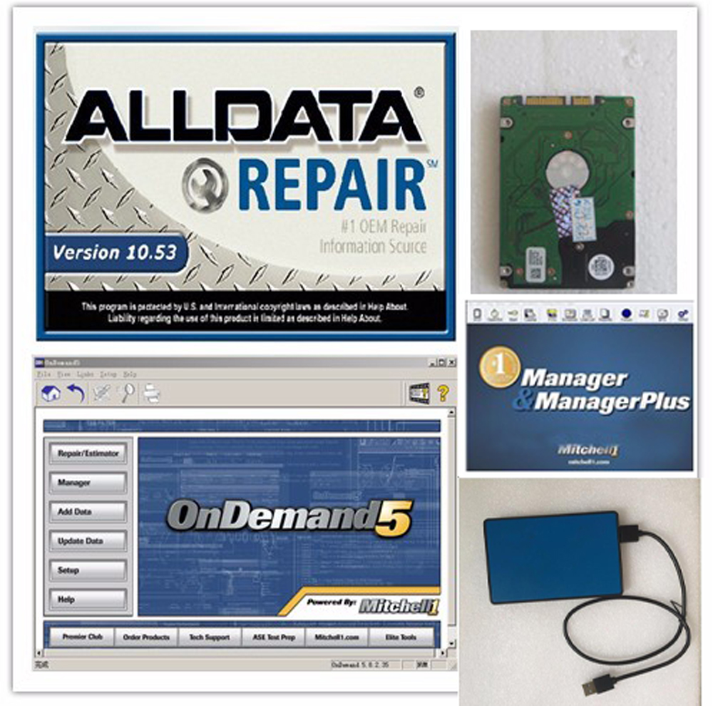10.53 Alldata repair software alldata and mitchell software with atsg mitchell manager plus ect 26in <font><b>1tb</b></font> <font><b>hdd</b></font> alldata heavy truck image