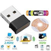 1200mbps mini usb wifi placa de rede banda dupla wifi adaptador 2.4g/5.8gwireless ac adaptador para windowsxp/vista/7/8/10 mac os