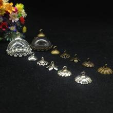 5 шт. 20 мм ручной работы полубутылка стеклянный купол Глобус кружевная основа бусины в форме чашек набор Шарм ожерелье DIY стеклянная подвеска из стеклянного флакона крышка подарки