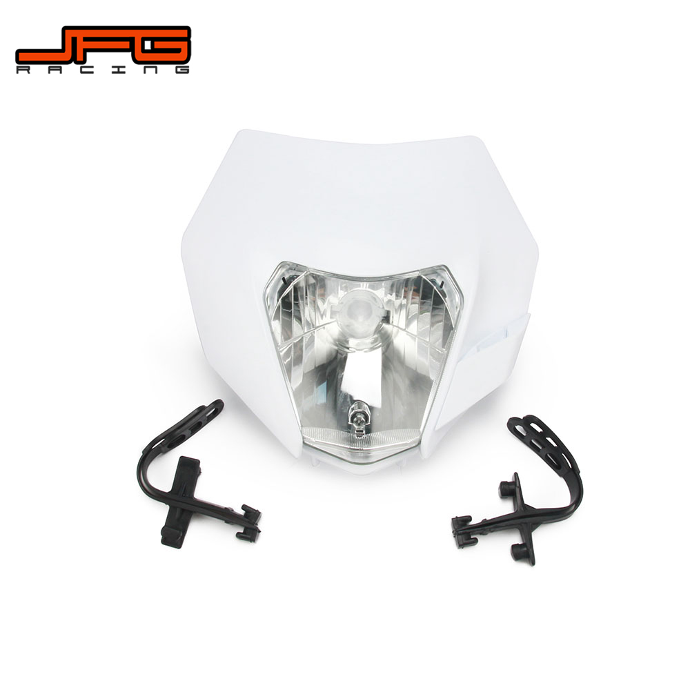 Motorcycle Universal headlight Headlamp Street For KTM EXC EXCF SX XC XCW MX SMR SXS 125 250 350 450 500 505 520 530 in Covers Ornamental Mouldings from Automobiles Motorcycles