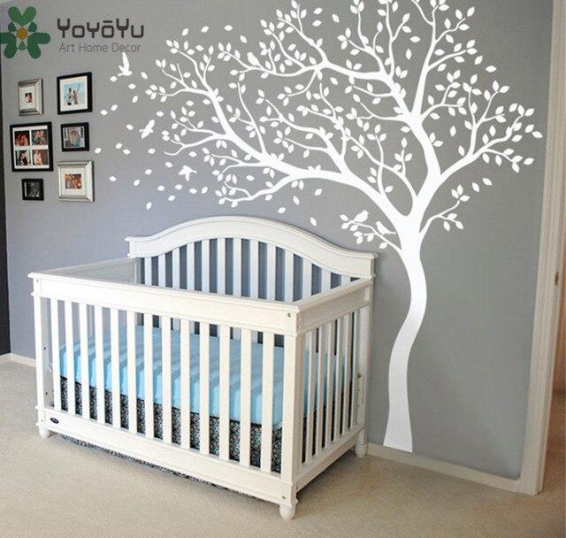 Wall Decal Vinyl Sticker Large Tree With Birds Wall Decor Custom