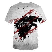 2019Newest T-shirt Game of Thrones tshirt Night King & Dragon Men's Tshirt 3d Print T shirt Summer Hip Hop Short Sleeve dracarys