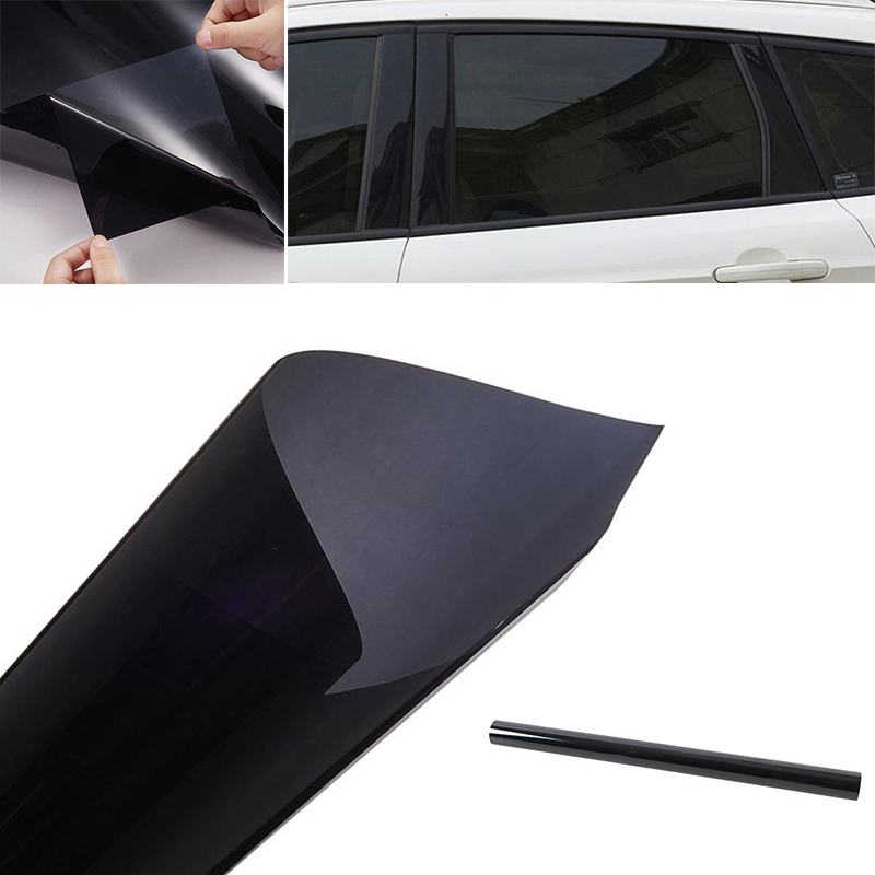 Image 4 - 300x50cm Uncut Dark Smoke Black Car Automobile Window TINT 5% VLT Film  for car side window house commercial solar protection-in Side Window from Automobiles & Motorcycles