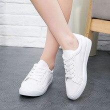 Femmes haute qualité pur blanc toile faible chaussures dame classique étudiant école blanc chaussures femme casual marche de la rue plat chaussures