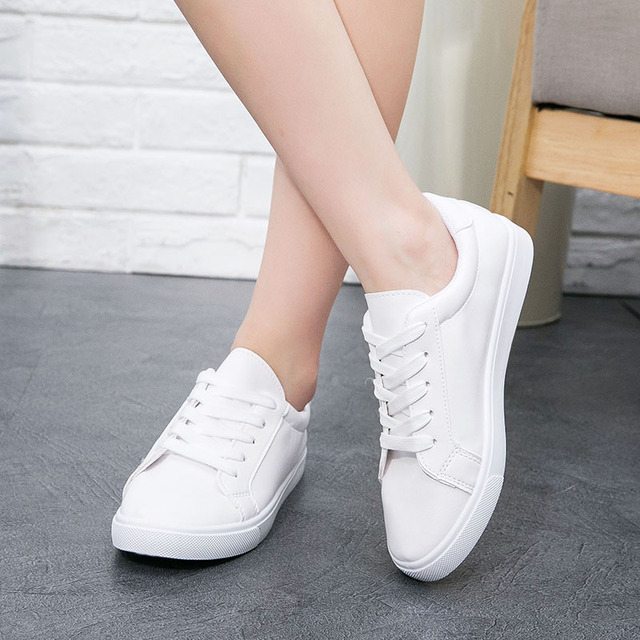 women high quality pure white canvas low shoes lady classic student school white shoes female casual street walk flat shoes
