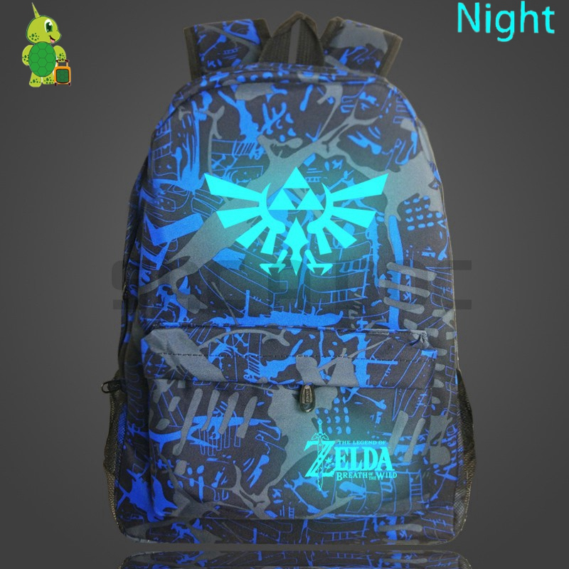 The Legend Of Zelda Backpack Luminous School Bags For Teenage Knapsack Boys Girls Starry Night Travel Rucksack Daily Backpack