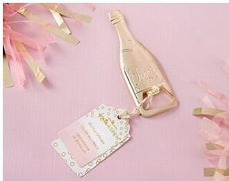 New Creative Golden champagne beer opener Parties Wedding Gift 50pcs/lot DHL free shipping