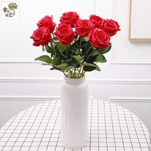 Simulation of roses valentine's day gift Fake roses Sitting room adornment flowers flannelette red rose bouquets of simulation c e randall page of roses