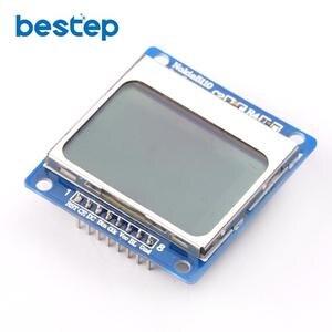 Módulo LCD azul 84X48 Nokia 5110 con retroiluminación azul con adaptador PCB LCD5110 para Arduino
