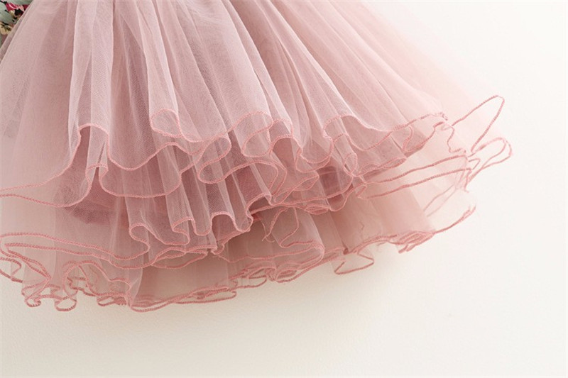 298cac8d43c Toddler Girls Princess Dress Baby Floral Dresses Little Girls Christmas  Party Dress Kids Red Pink Net Yarn Dress Kids Costume-in Dresses from  Mother   Kids ...