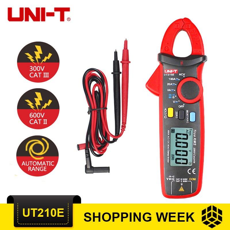 UNI-T UT210E True RMS цифровой мультиметр AC/DC ток мини токовые клещи UT210E ручной мультиметры
