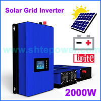 1000W 2000W Solar Panels Battery on Grid Tie Inverter Limiter for Home PV Power System DC 22 65V/45 90V AC 90V 130V 190V 260V