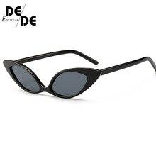 цена на 2019 Trendy Cat Eye Sunglasses Women Brand Designer Vintage Small Sun Glasses 90s Fashion Eyeglasses Shades Goggles UV400