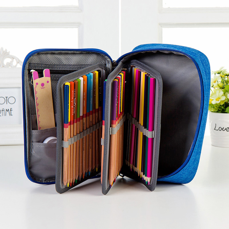 Pen Case High Capacity Zipper Pens Pencil Case--Multi-functional Stationery Pencil Pouch 72 Slots Pencil Bag School Pen Box New 1000g 98% fish collagen powder high purity for functional food