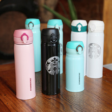 Free shipping 500ml stainless steel vacuum flasks with pop-up lid portable insulated tumbler cup SB10