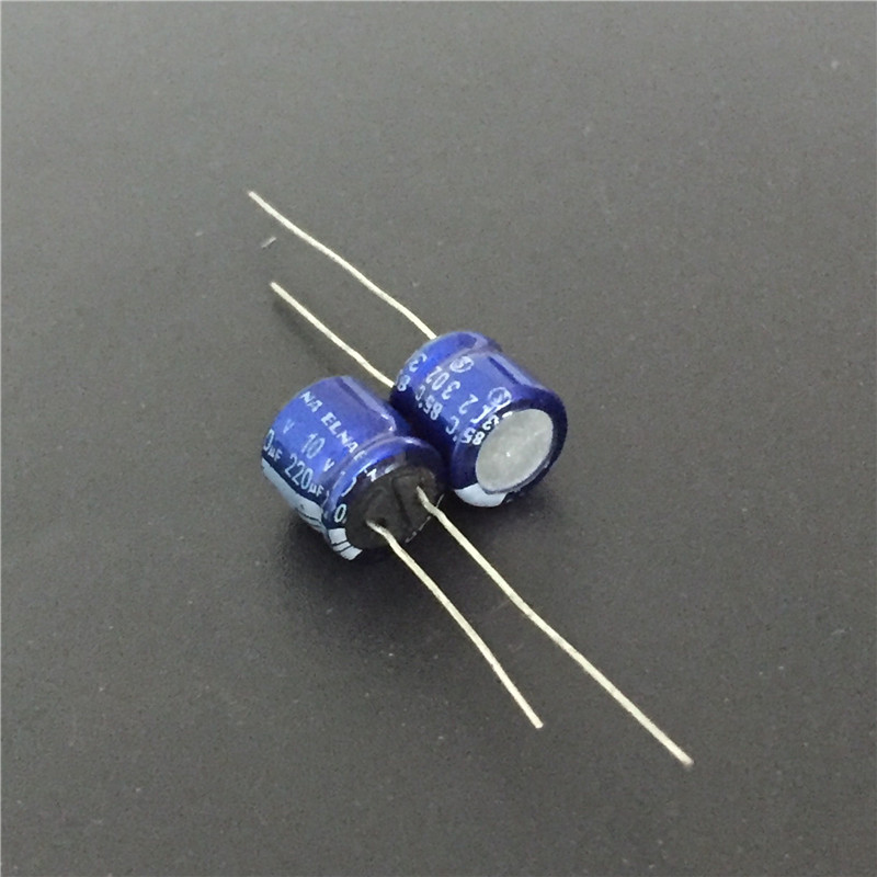 10pcs 220uF 10V ELNA Blue 8x7mm 10V220uF Low Profile Audio Capacitor