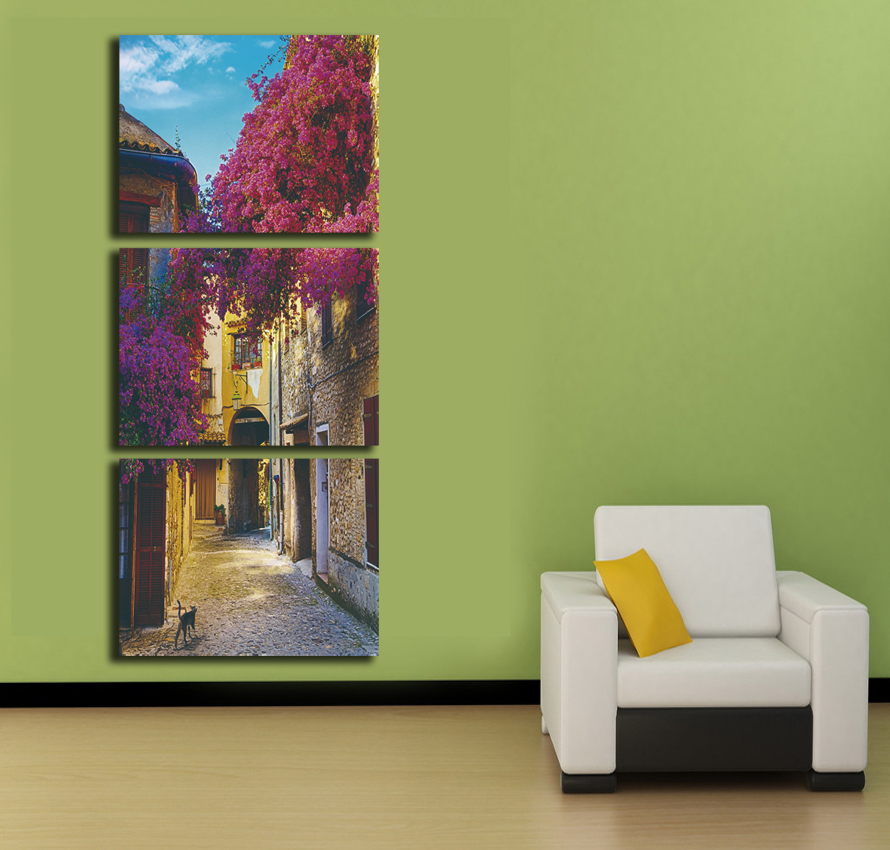 Selling unframed fairy landscape painting town scenery - Landscape paintings for living room ...