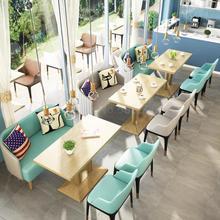 Офисный стол и стул для переговоров, простой, скандинавский обеденный стул, чайный магазин, кофейня, столы и стулья