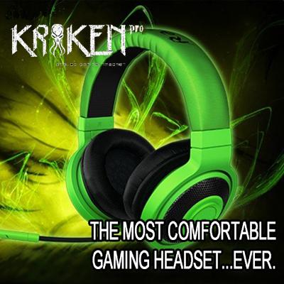 Frete Grátis Kraken Pro Gaming Headset, Brand New, sem Caixa de Varejo, Fast & Frete grátis, em estoque.