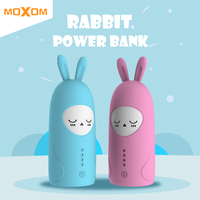 MOXOM Cute Power Bank 10000mAh For Xiaomi Redmi Mi Power Bank Portable Charger 10000mAh Pover Bank For iPhone 7 6 Plus 5 4 Phone