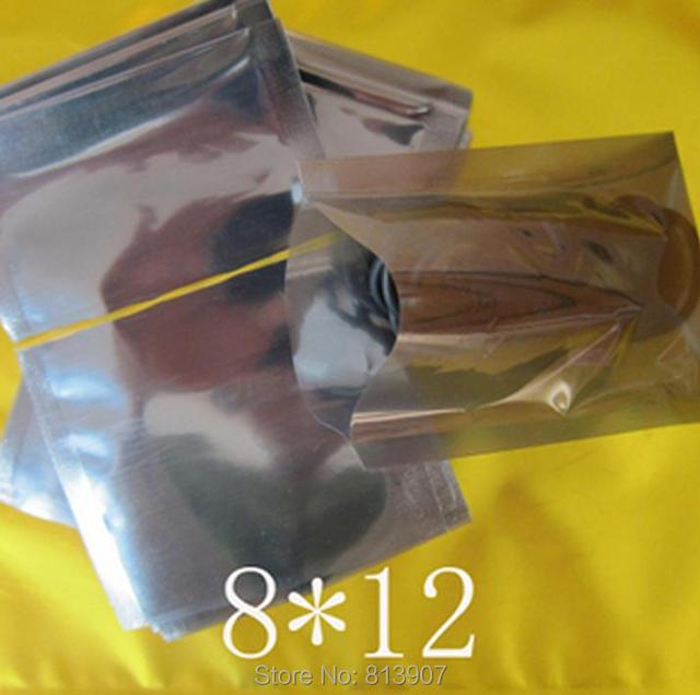 8*12 cm 200 Stücke Anti Statische heißsiegel Abschirmung Poly Open Top Packung Beutel ESD Antistatische antistatische Kunststoff Verpackungsbeutel