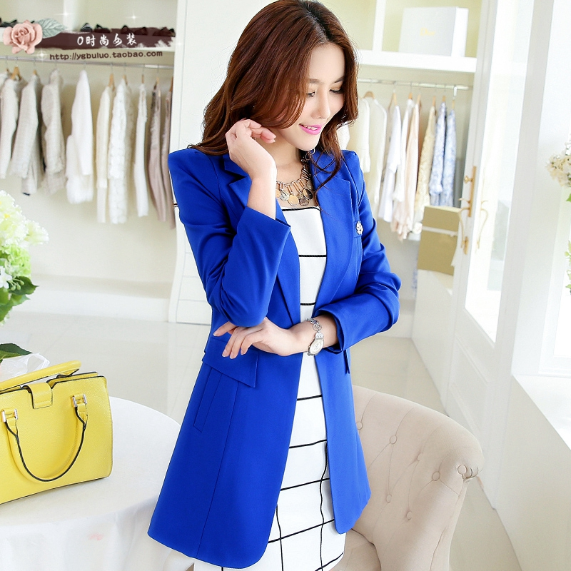 Brieuces 6 Colors New 2020 Autumn Spring Long Elegant Women Blazers Candy Colors Causal Slim Ladies Suits Jackets Long Sleeve