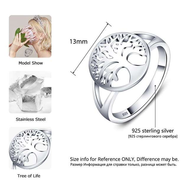 Tree of Life Classic Accessories 925 Sterling Silver Ring 1