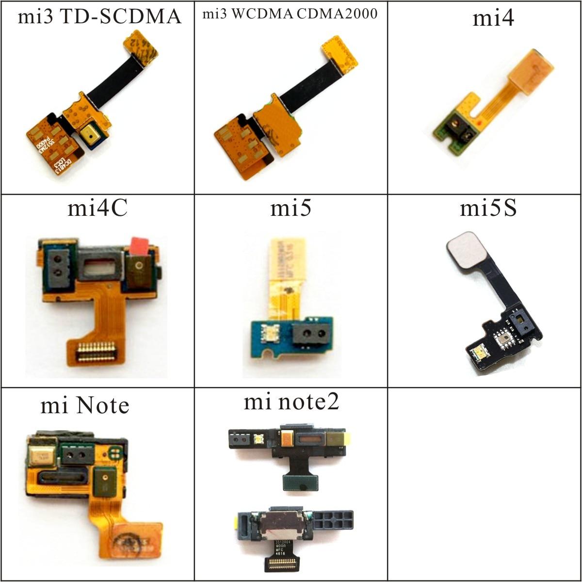 Proximity Light Sensor Flex Cable Distance Sensing Connector For Xiaomi Mi3 Mi4 4C Mi5 5S Note 2 TD-SCDMA WCDMA Replacement Part