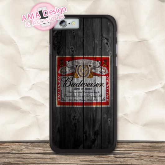 The Classic Beer Budweiser Cover Protective Case For iPhone X 8 7 6 6s Plus 5 5s SE 5c 4 4s For iPod Touch