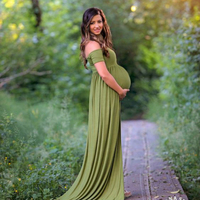 2017 Maternity Photography Props Maxi Maternity Gown Lace Maternity Dress Fancy Shooting Photo Summer Pregnant Dress