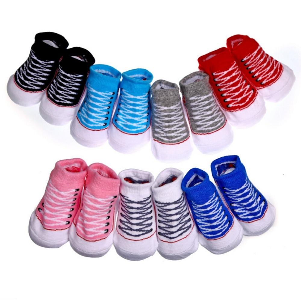 c43cac3639 Infant Toddler Baby Boy Girls Socks That Look Like Shoes Anti slip ...
