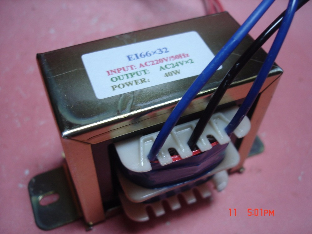 24V-0-24V  0.83A  Transformer  220V  input  40VA  EI66*32  Full copper multimedia active speaker transformer