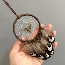 2.75 Ring Diameter good luck car hanging dream catcher feather decoration free shipping