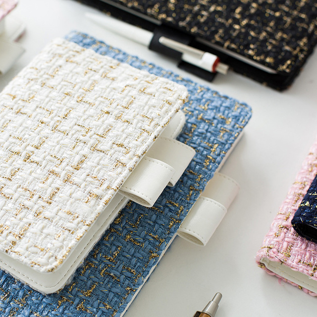 2018 Kawaii hermosa cubierta de tela de forro de cuero de cuaderno de bolsillo diario papelería planificador de la escuela suministros