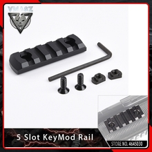 VMASZ 5 Slot Aluminum Picatinny Weaver Rail for KeyMod Scope Mount Shooting Airsoft Accessory