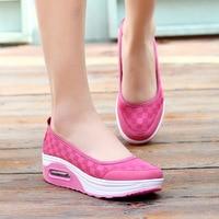 Women Shoes Hot Printing Breathable Mesh Platform Women Casual Shoes