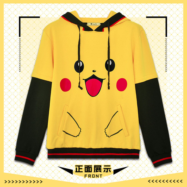 b3dbfe343 Pokemon clothes Men Women Hoodies Cotton Novelty Sweatshirt teens ...